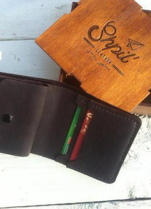 Портмоне с отделом для мелочи из натуральной кожи кошелек