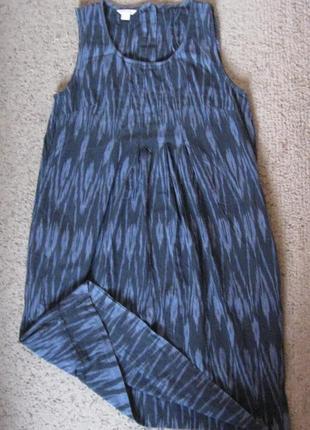 Платье в разводах с карманами хб