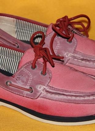 Туфли, мокасины, топсайдеры timberland р.37-38 стелька 24,4 см