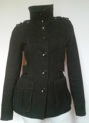 Демисезонное пальто с накладными карманами на подкладке, h&m