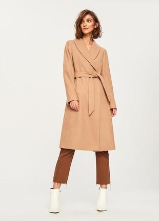 Пальто халат 60% шерсти