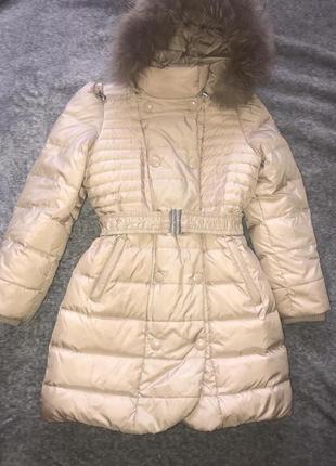 Пальто зимнее на девочку фирмы baby line (libellule)