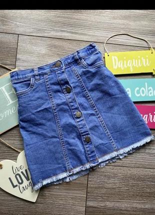 Джинсовая юбка f&f на 5-6лет