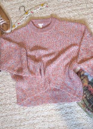 Трендовый  вязаный свитер, пуловер оверсайз.