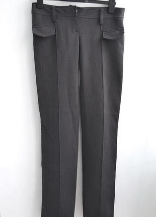 Классические тёмно-серые штаны бренда tago
