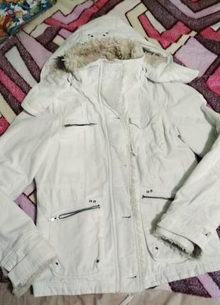 Утепленная котоновая курточка