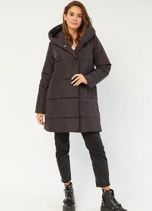 Женская зимняя куртка с капюшоном - летняя скидка