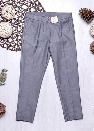 Серые школьные классические брюки для девочки подростка ovs kids италия