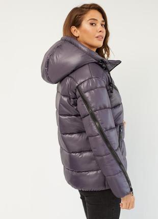 Сиреневая куртка оверсайз зимняя | летняя скидка | женская свободная