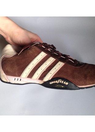 Кросовки замшевые коричневые adidas оригинал