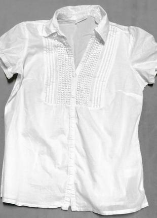 Красивая блузка tchibo  с отделкой из плетеного кружева