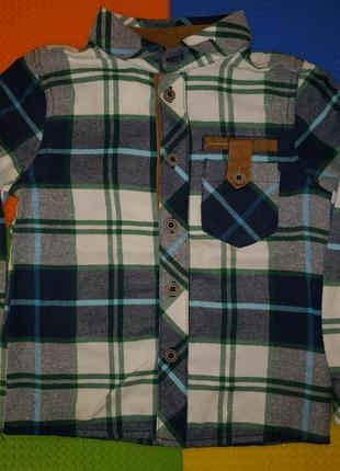 Рубашка в клеточку bembi
