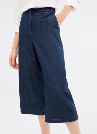 Джинсовые кюлоты джинсовые брюки брижды бермуды синие кюлоты