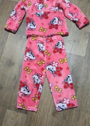 Теплая пижама 4-5 лет