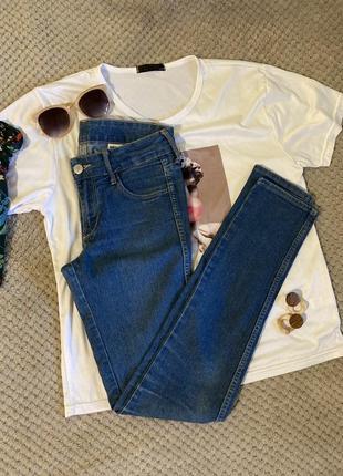 Базовые джинсы скини от h&m, низкая посадка / 24-xs-s