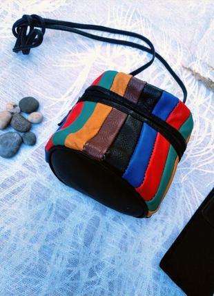 Кожаная сумка, небольшая через плечо