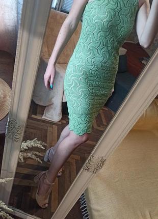 Платье ажурной вязки платье карандаш вязанное крючком