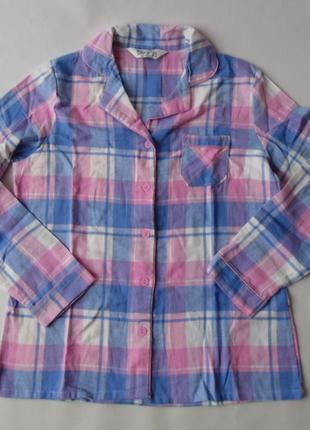 Пижамная рубашка фланель primark love to lounge англия 10-12