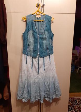 Платье джинсовое crisca