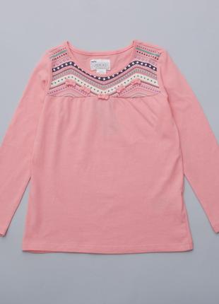 Реглан - туника для девочки с декором - вышивка  lupilu
