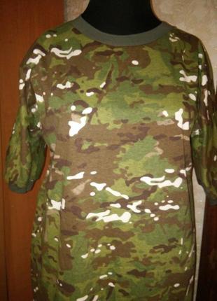 Платье милитари оверсайз котон-трикотаж