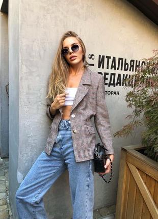 Трендовый пиджак на осень с пуговицами фото в живую отличного качества