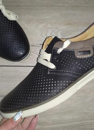 Мужские туфли 🍋 перфорация классика мокасины чоловічі туфлі