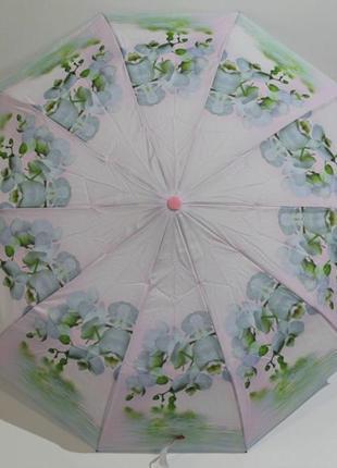 Жіноча парасоля автомат flagman орхідеї. зонт женский автомат в коробке