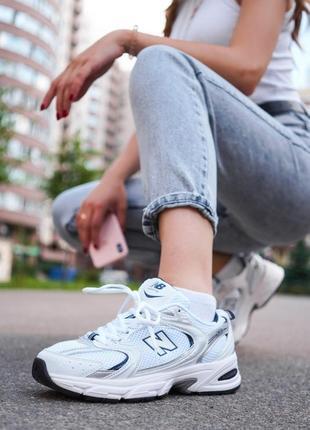 New balance 530 white белые женские кроссовки наложенный платёж купить6 фото