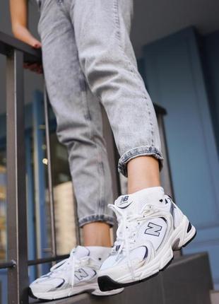 New balance 530 white белые женские кроссовки наложенный платёж купить5 фото