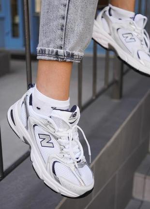 New balance 530 white белые женские кроссовки наложенный платёж купить3 фото