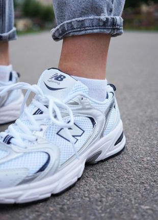 New balance 530 white белые женские кроссовки наложенный платёж купить10 фото