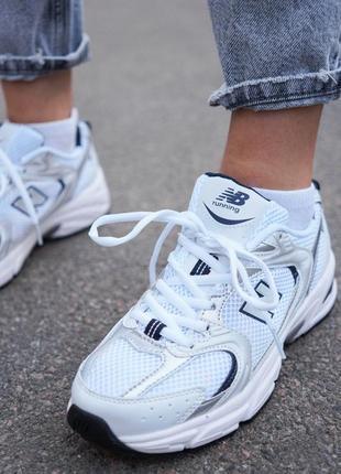 New balance 530 white белые женские кроссовки наложенный платёж купить8 фото