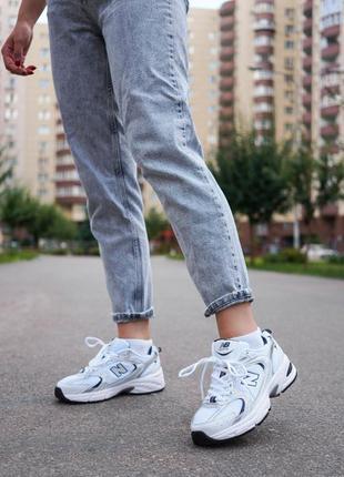 New balance 530 white белые женские кроссовки наложенный платёж купить7 фото