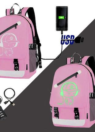 Светящийся рюкзак для девочек senkey&style. оригинал!