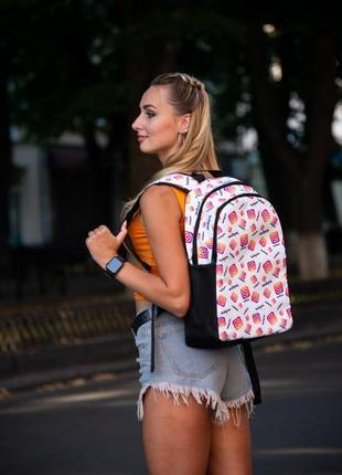 Рюкзак белый с принтом instagram