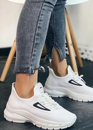 Женские,белые кроссовки. летняя распродажа!