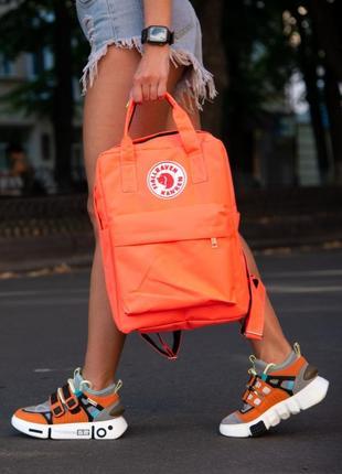 Рюкзак fjallraven kanken оранжевый портфель сумка для учебы ранец женский / мужской