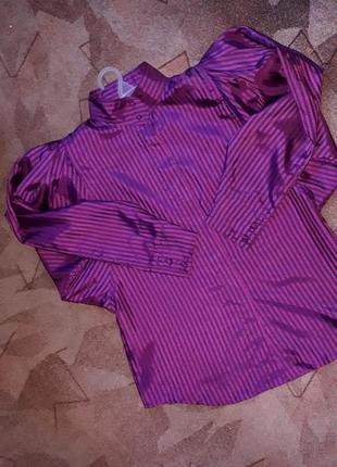 Шикарная винтажная блуза рубашка с трендовыми пышными рукавами буфами