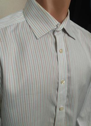 Рубашка в полоску, манжеты под запанки