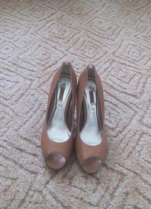 Супер кожаные туфли с открытым носком next 39р