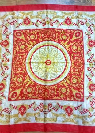 Винтажный шелковый платок по типу   versace, gucci, feri belluci italia original