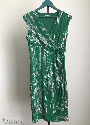 Миди платье тропический принт