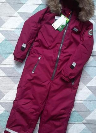 Детский зимний сдельный комбинезон для девочки р.128 lego wear exclusive reima  lenne