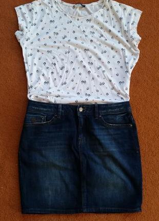 Джинсова юбка , юбка джинсовая мини