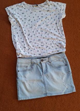 Юбка джинсовая , спідниця джинсова
