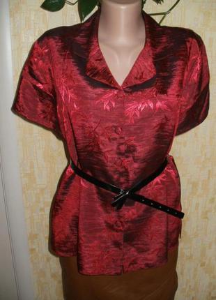 Блузка терракотового цвета с вышивкой рубашка блузка блуза кофточка
