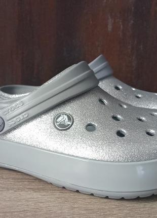 Женские crocs crocband glitter clog,(женские кроксы)