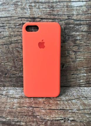 Силиконовый чехол для iphone 7/8/ 7 plus / 8 plus персиковый