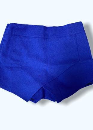 Юбка шорты в школу.  синий электрик